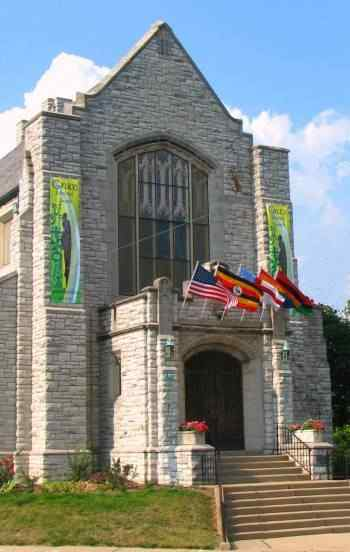 Grace Church with Flags & Banners