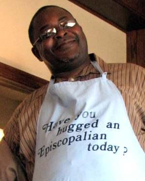 David Mukasa in Dietz Apron