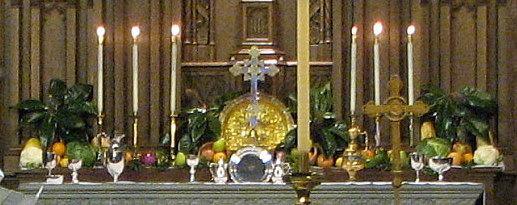 Thanksgiving Altar Flowers, Silver & Brass
