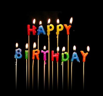 Happy Birthday-Black