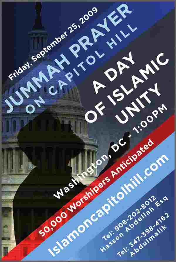 jumuah on capitol hill, this Friday, Sept 25th in DC.