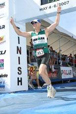 Doron winning a race