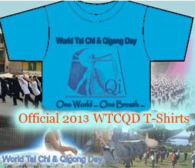 Official 2013 World Tai Chi & Qigong Day T-Shirts