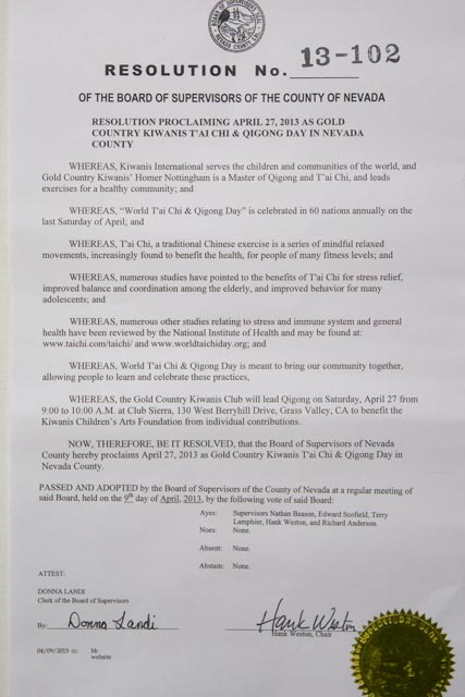 California, Nevada County Resolution