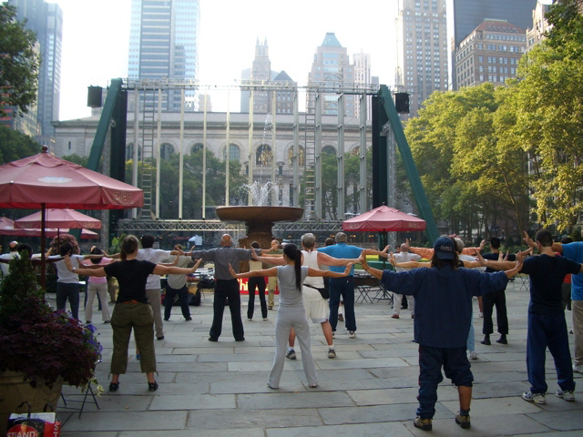 ... new york world tai chi qigong day events whose iconic photos were seen