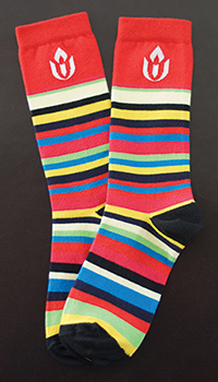 UUA striped socks