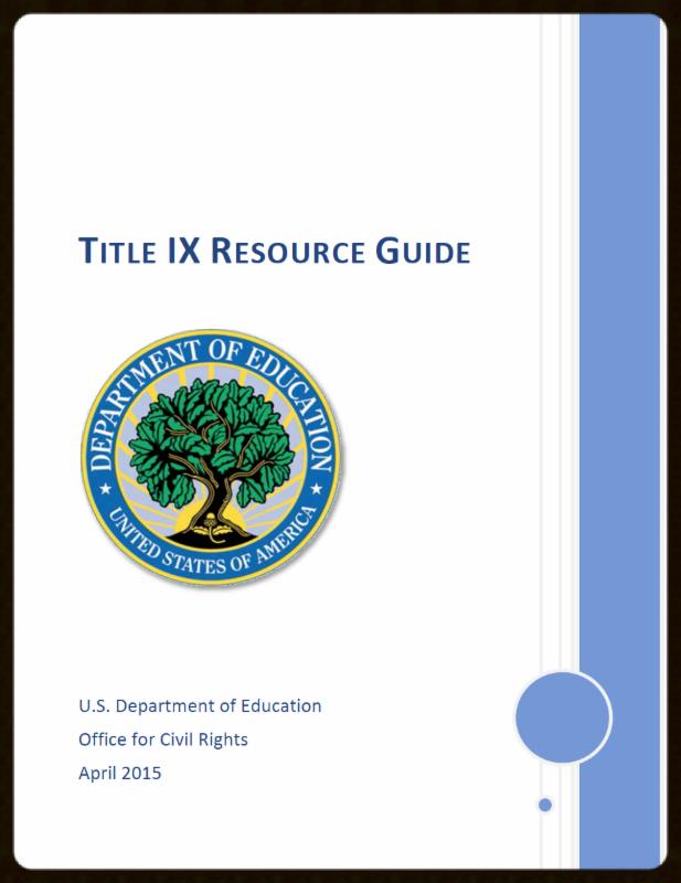 Title IX Resource Guide Cover