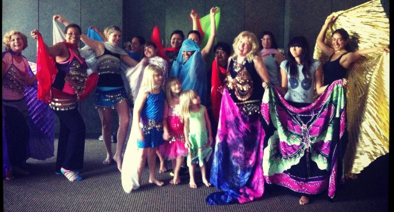 Goldie's Belly Dance class 2012