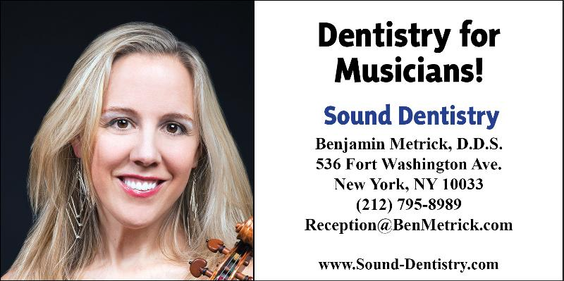 Dentistry for musicians at www.Sound-Dentistry.com