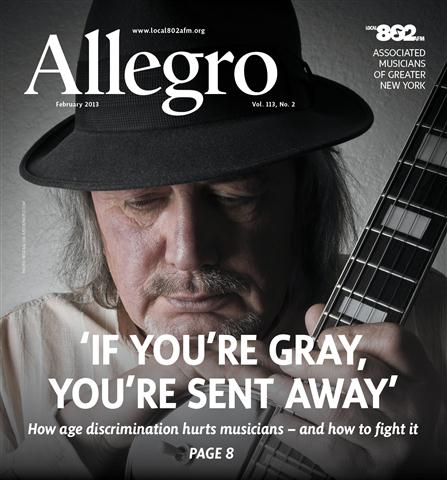 This is a picture of the cover of the February 2013 issue of Allegro