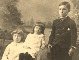 Ethel, Louise, and Edgar Avery, c. 1887.