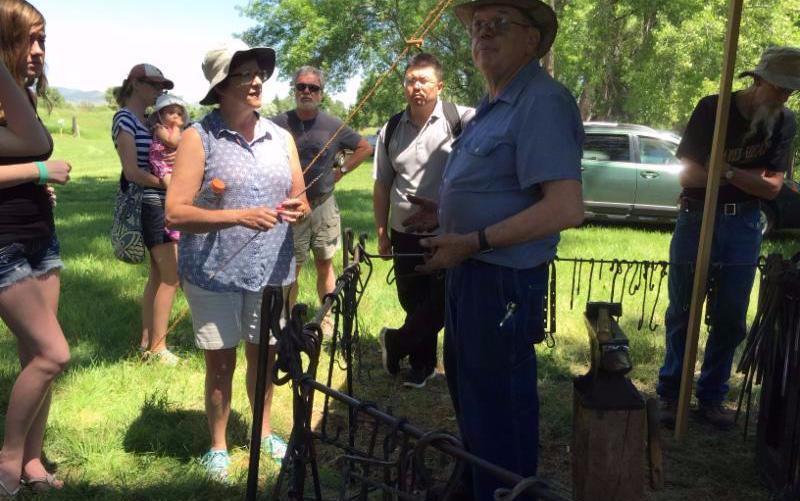 Blacksmithing demo