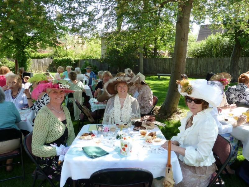 Tea on the Avery Lawn