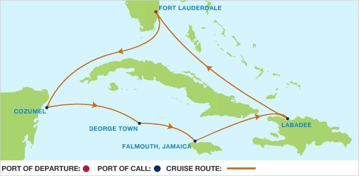 Route map 2015 cruise