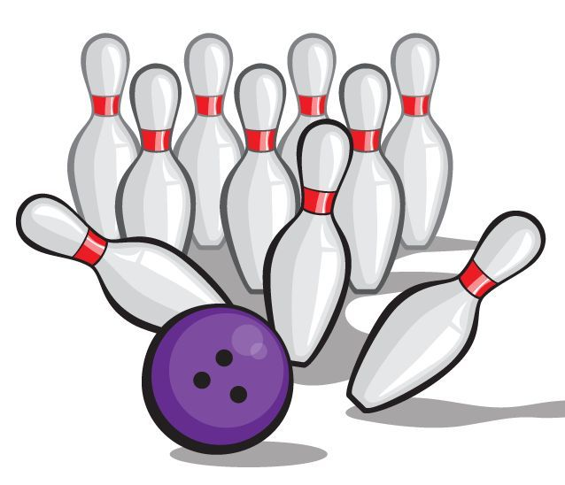 Gutter in Bowling Pins Clip Art – Cliparts