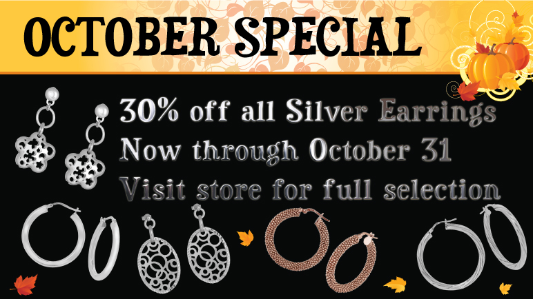 30% off all Silver Earrings