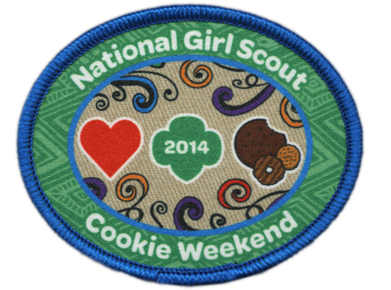 National Girl Scout Cookie Weekend Patch 2014
