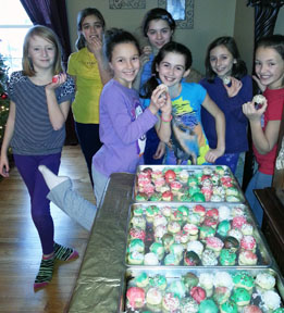 Troop spent 6 hours making cookies then delivered to local fire stations.