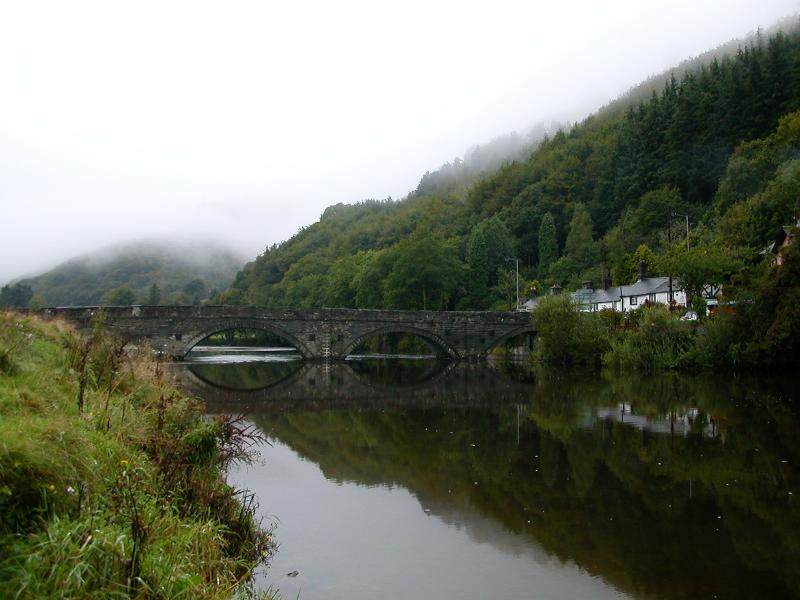Dyfi bridge reflections � Cyril Evans