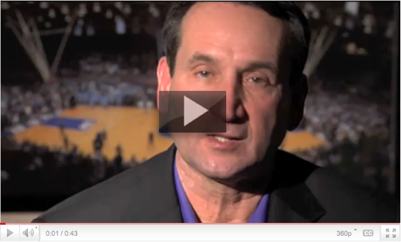 Coach K on 'Doing Good in the Neighborhood'