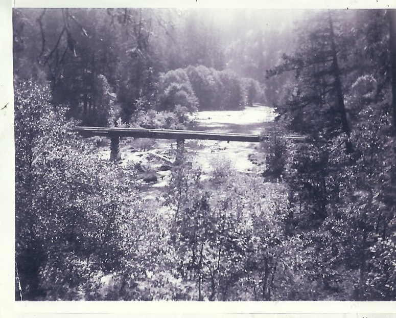 Log Bridge across North Umpqua