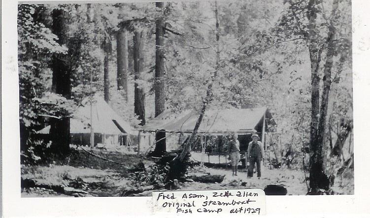 Zeke Allen's fish camp  near Camp Water