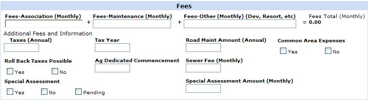 Revised Fee Section