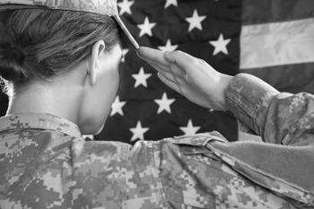 Female vet Salute