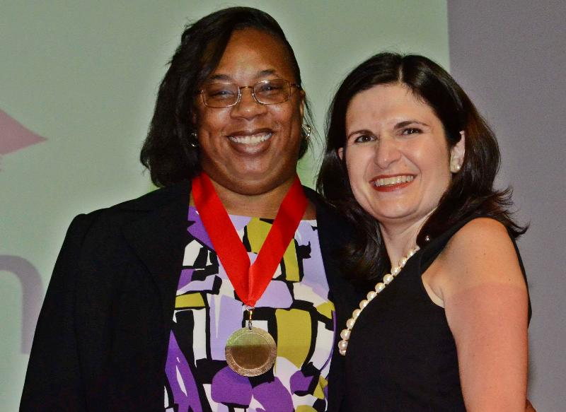 Hope Johnson, left, with project director Viv� Griffith