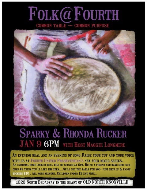 Folk at Fourth Poster for Sparky and Rhonda Rucker concert
