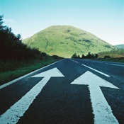 Arrows on the road