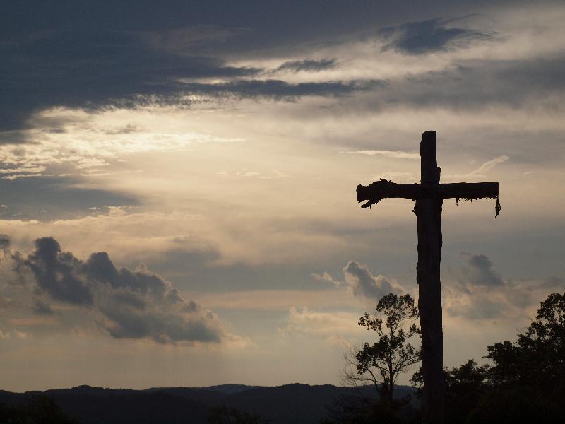 Cross silhouette at John Knox Center