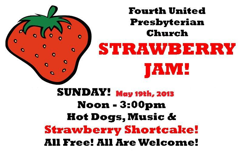 Folk@Fourth Strawbery Jam 2013 poster