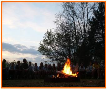 Campfire at John Knox Center