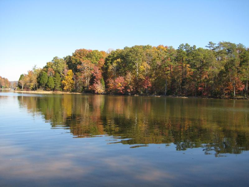John Knox Center - view of the lake in fall