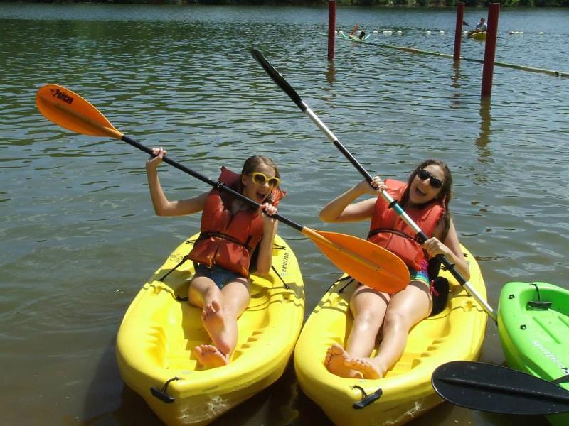 John Knox Center - girls in kayaks