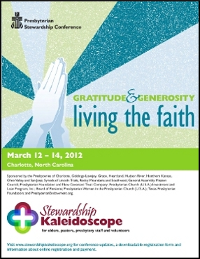 Stewardship conference brochure cover