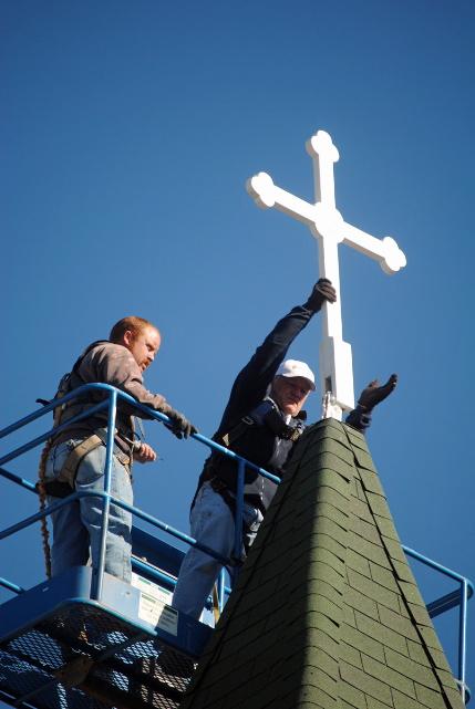 Installation of Wartburg Cross