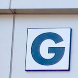 Letter G on the General Academic Bldg