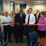 Faculty Staff Lounge ribbon cutting
