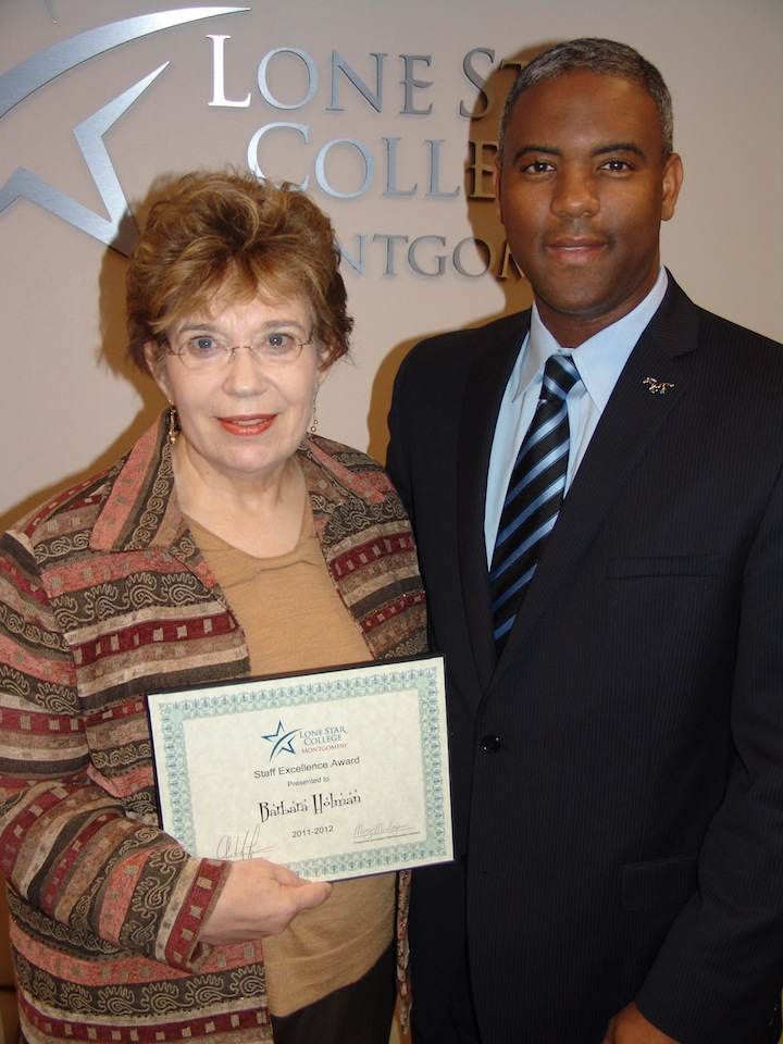 Barbara Holman and Dr. Lane