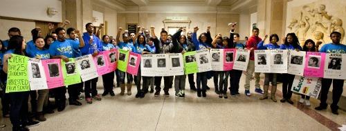 Students at City Hall