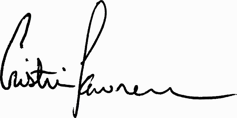Cristin's signature