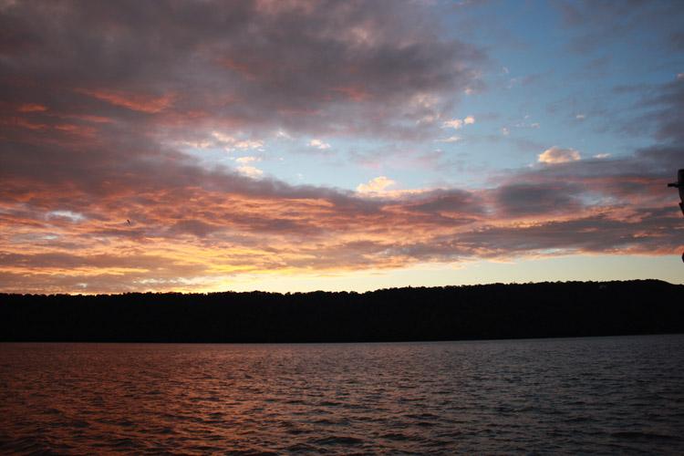Barge sunset
