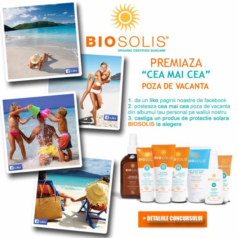 castiga GRATIS un produse de protectie solara BIOSOLIS