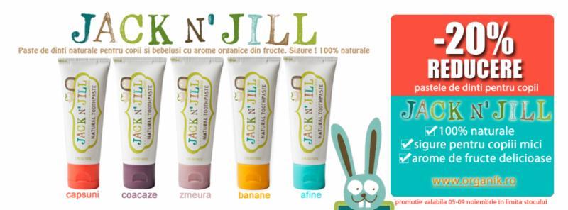 Pasta de dinti cu arome de fructe certificate organic de la Jack N Jill OPROMOTIE -20%