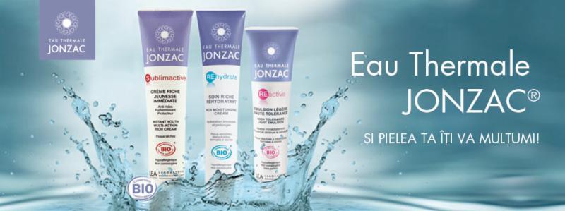 Produse dermato cosmetice bio pe baza de apa termala Jonzac.