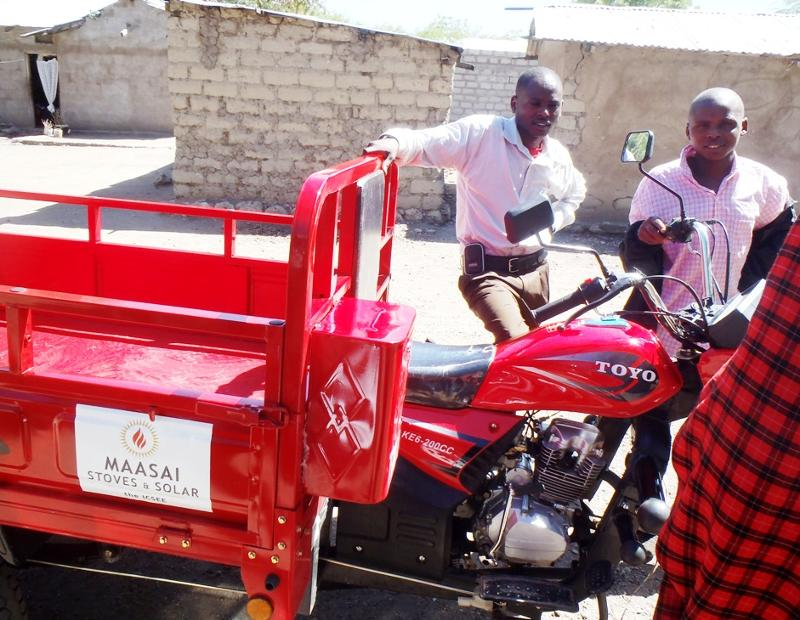Maasai Stoves & Solar delivery