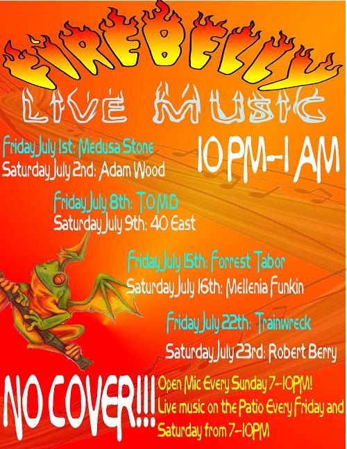 Firebelly July Music Flyer 2