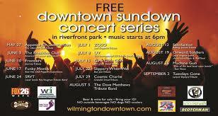 Downtown Sundown Concert List